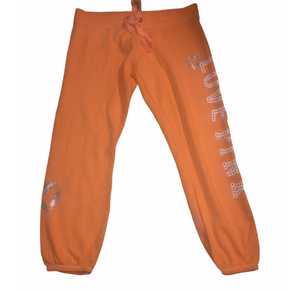 Victoria's Secret women orange Capri sweats medium